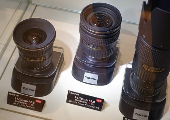 Tokina AT-X 11-20mm f:2.8 PRO DX and 24-70mm f:2.8 PRO FX lens prototypes
