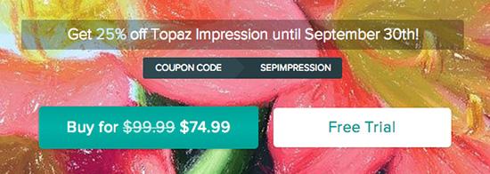 Topaz-Impression-coupon-discount-sale