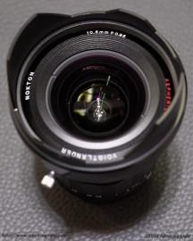 Voigtländer 10.5mm f:0.95 Nokton MFT lens front