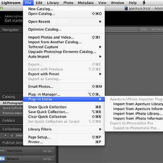 Adobe Aperture Importer plugin for Lightroom