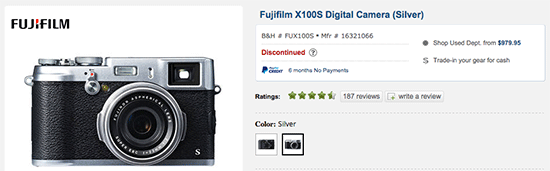 Fuji-X100s-camera-discontinued