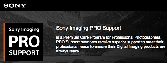 Sony-Imaging-PRO-Support-service
