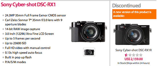 Sony-RX1-camera-discontinued