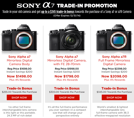 The Popular Sony A7 A7r Camera Trade In Program Is Back