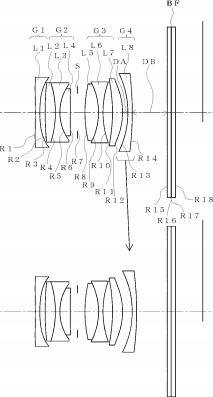 Ricoh 18.3mm f:2.8 lens patent