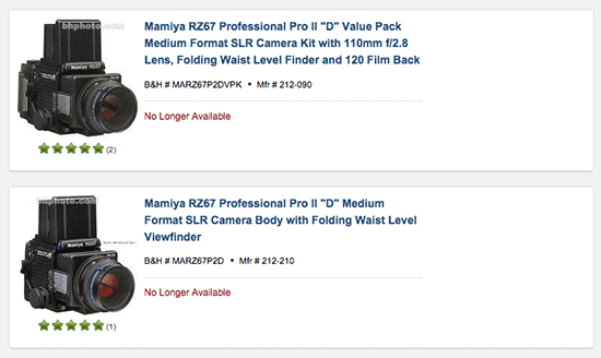 Mamiya-RZ67-Pro-II-medium-format-camera-discontinued
