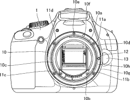 Canon patent for metal and plastic resin mount for DSLR cameras