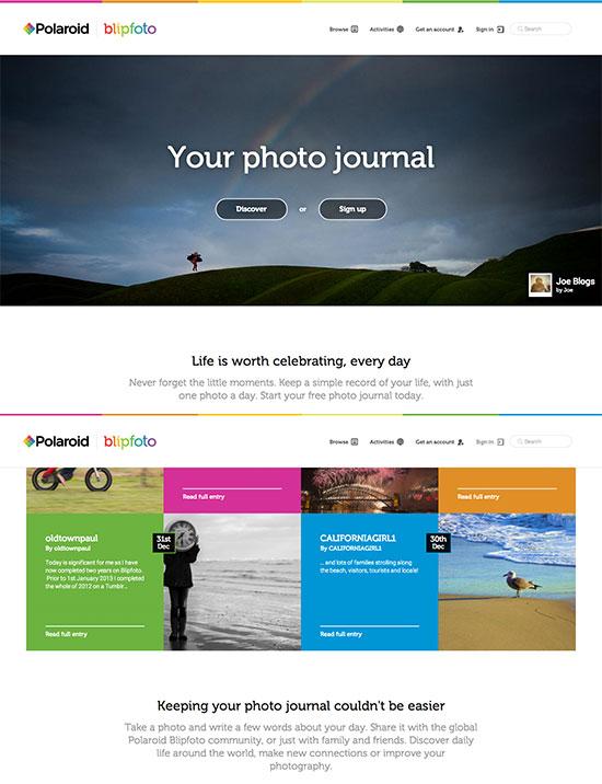 Polaroid-Blipfoto-photo-journaling-service