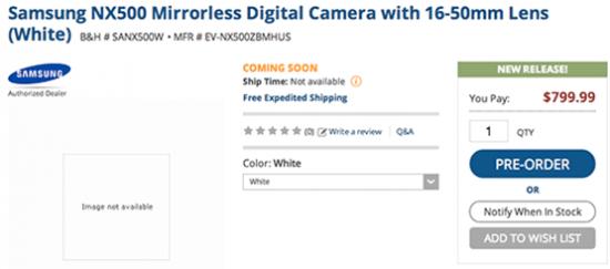 Smasung-NX500-camera-US-price