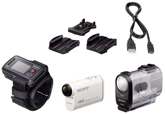 Sony-FDR-X1000V-4K-action-cam-accessories