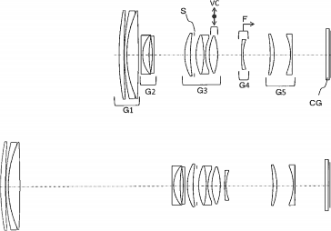 Tamron 70-200mm f:4 VC lens patent