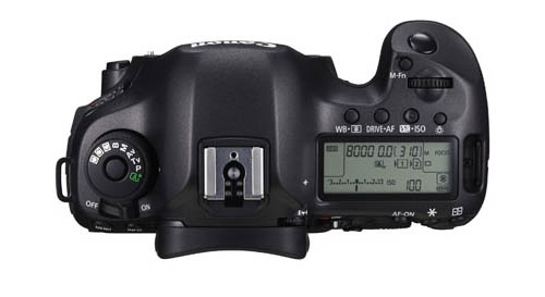 Canon EOS 5Ds R DSLR camera top