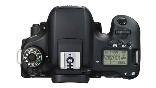 Canon EOS 750D DSLR camera top