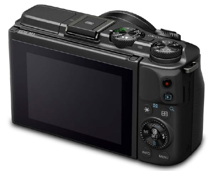 Canon EOS M3 mirrorless camera back