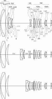 Ricoh 7.5-120mm f:1.6-1.9 lens patent