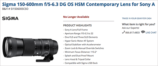 Sigma-150-600mm-f5-6.3-DG-OS-HSM-Contemporary-lens-for-Sony-A-mount