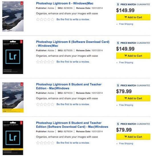 Adobe Lightroom-6-US price