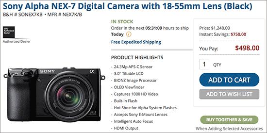 Sony-Alpha-NEX-7-camera-sale