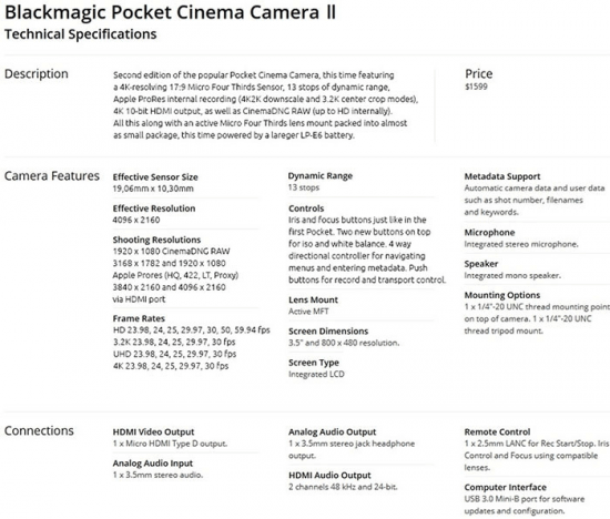 Blackmagic-Pocket-Cinema-camera-II-specs