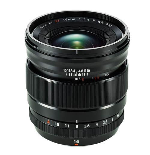 Fuji XF 16mm f:1.4 R WR lens
