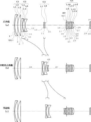 Ricoh 16.4-500mm f:4-6.7 lens patent