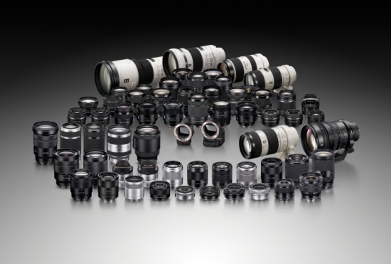 Sony α A-mount lens line-up