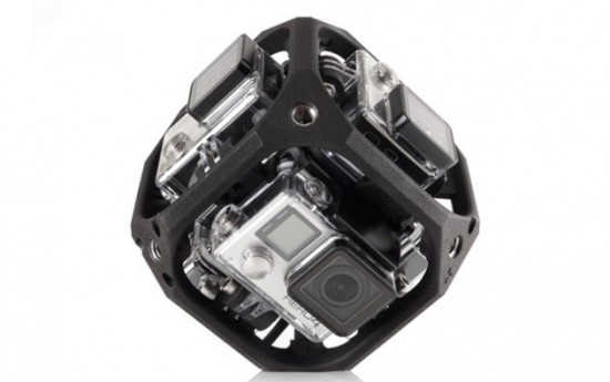 GoPro camera array for capturing VR AR video