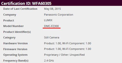 Panasonic FZ300 camera