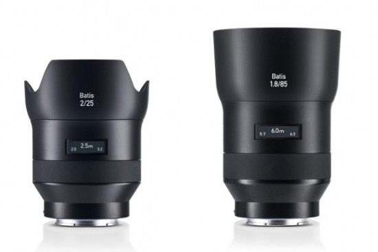 Zeis Batis autofocus lenses for Sony full frame mirrorless cameras