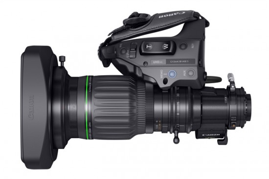 Canon announced the world's first 4K UHD wide-angle CJ12ex4.3B portable broadcast lens 2