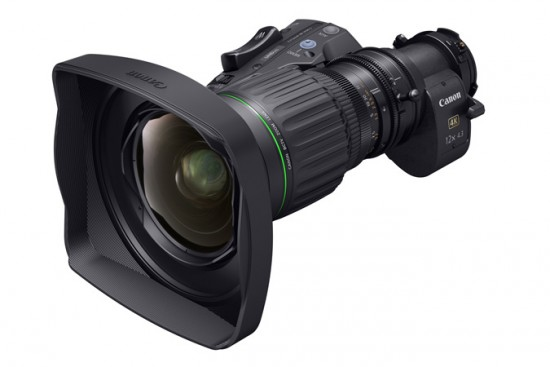Canon announced the world's first 4K UHD wide-angle CJ12ex4.3B portable broadcast lens