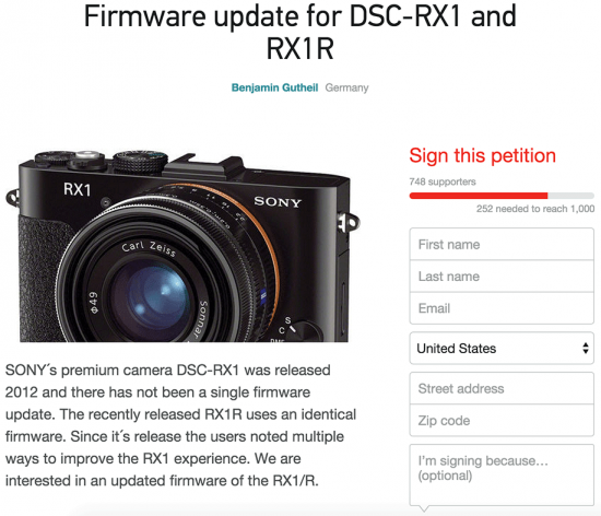 Sony-RX1-RX1R-camera-firmware-udpate-petition