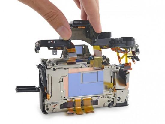 Sony a7R II camera teardown 2