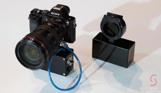 Genus-prototype-lens-adapter-with-built-in-electronic-neutral-density-ND-filter