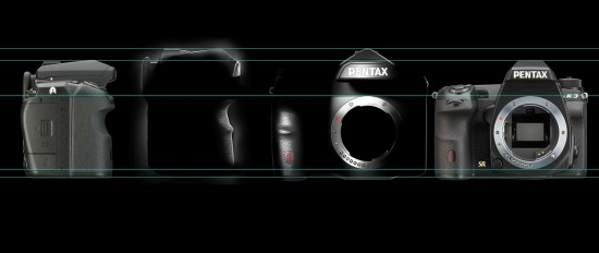 Pentax full frame DSLR camera compared to the K-3