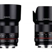 Rokinon 50mm f:1.2 and 21mm f:1.4 mirrorless lenses
