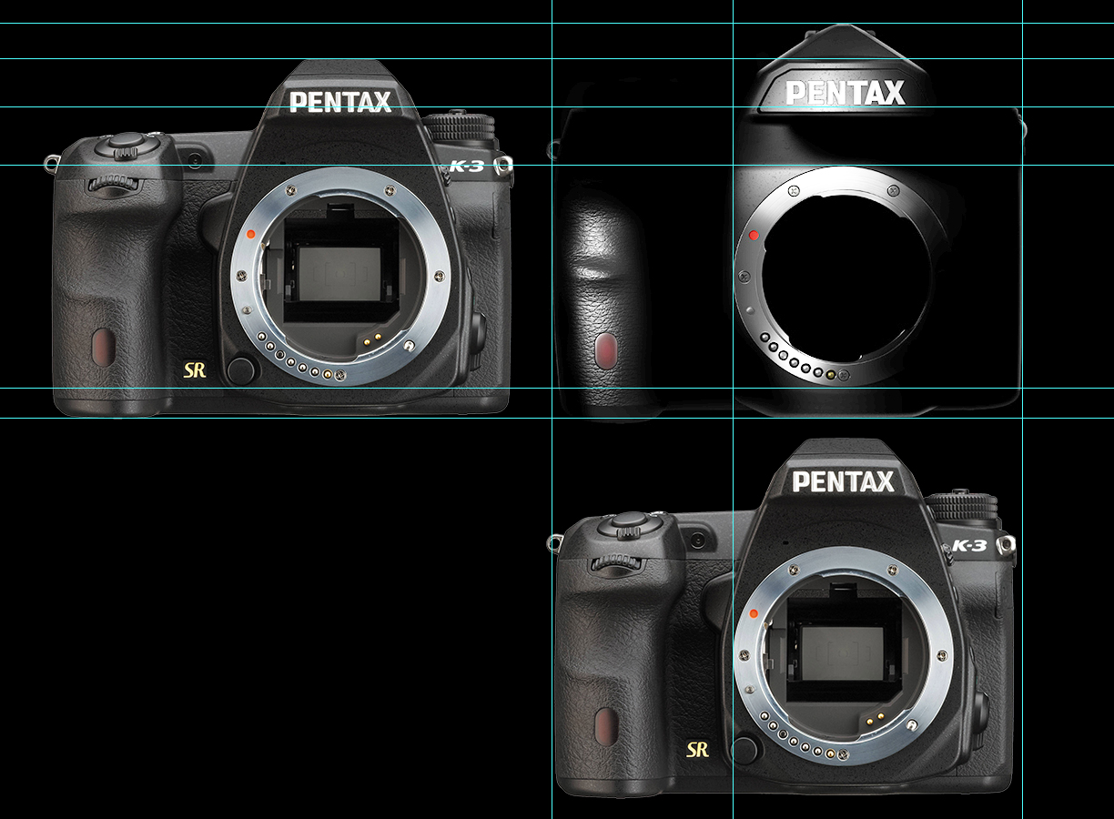 Size comparison between the new Pentax full frame and K-3 DSLR ...
