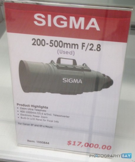 Used Sigma 200-500mm f:2.8 EX DG APO IF lens with Canon mount 2