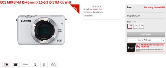 Canon-EOS-M10-mirrorless-camera-listed-online
