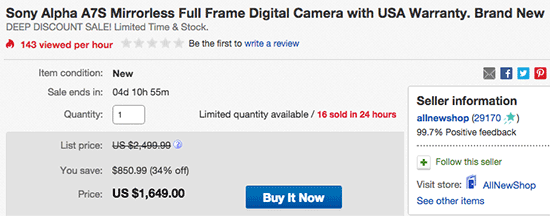 Sony-Alpha-a7S-camera-sale