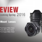 Voigtländer announces three new E-mount lenses