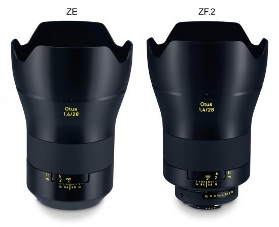 Zeiss Otus 28mm f:1.4 lens