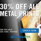 30 discount on metal prints at AdoramaPix