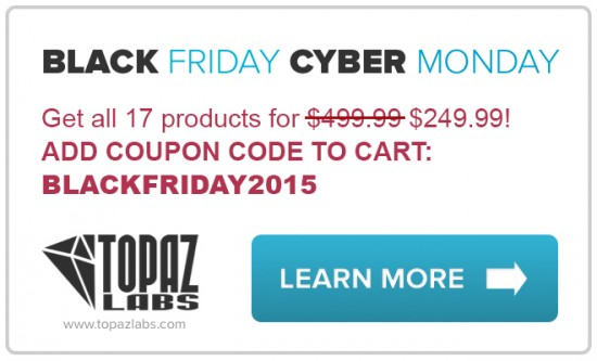 Black Friday deal Topaz Labs Complete Collection