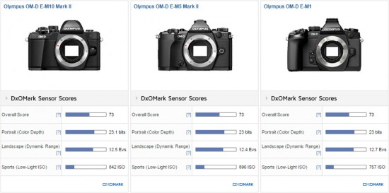 Olympus OM-D E-M10 II camera DxOMark test