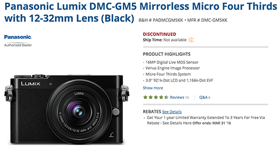 Panasonic-Lumix-GM5-camera-discontinued