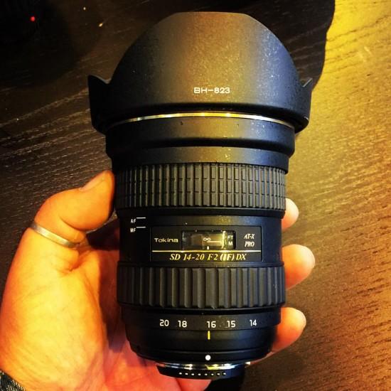Tokina SD 14-20mm f:2 IF DX lens