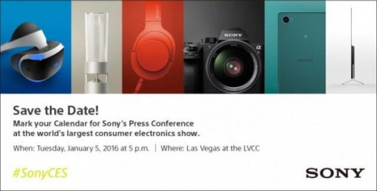 Sony 2016 CES press conference