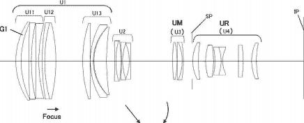 Canon CN-E 70-200mm f:2.8 lens patent Super 35mm