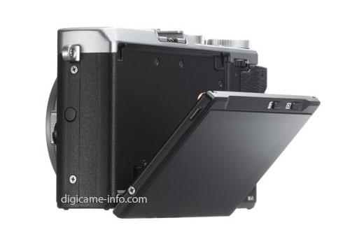 Fuji X70 camera LCD screen
